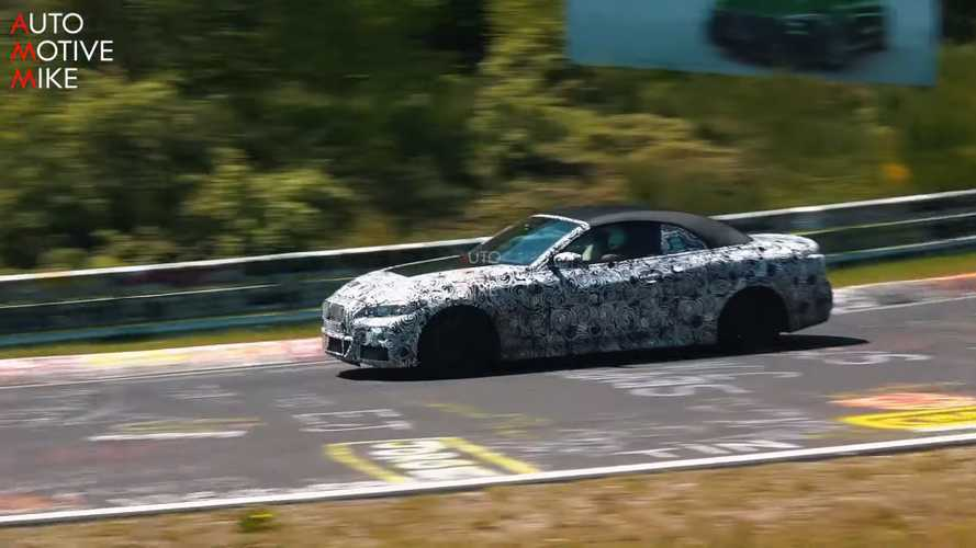 BMW 4 Series Convertible spied torturing tyres at the Nürburgring