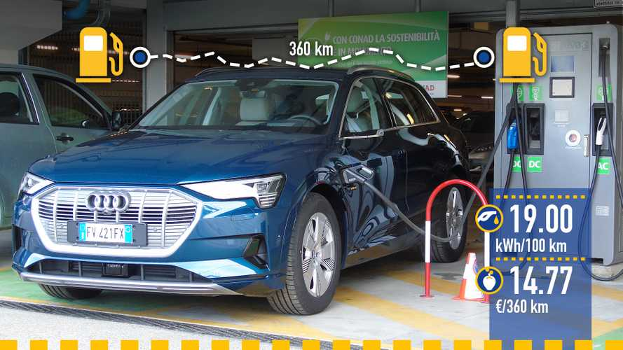 Audi e-tron, la prova dei consumi reali