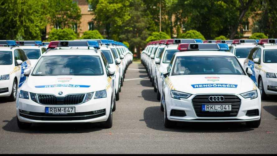 4 milliárd forintért kapott 500 új autót a rendőrség
