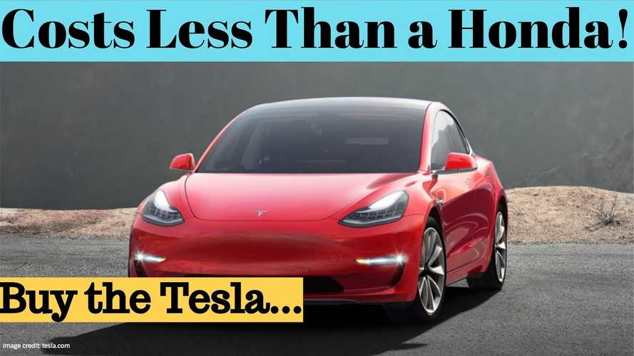 This Guy Claims Tesla Model 3 Is A Better Value Than Honda Accord