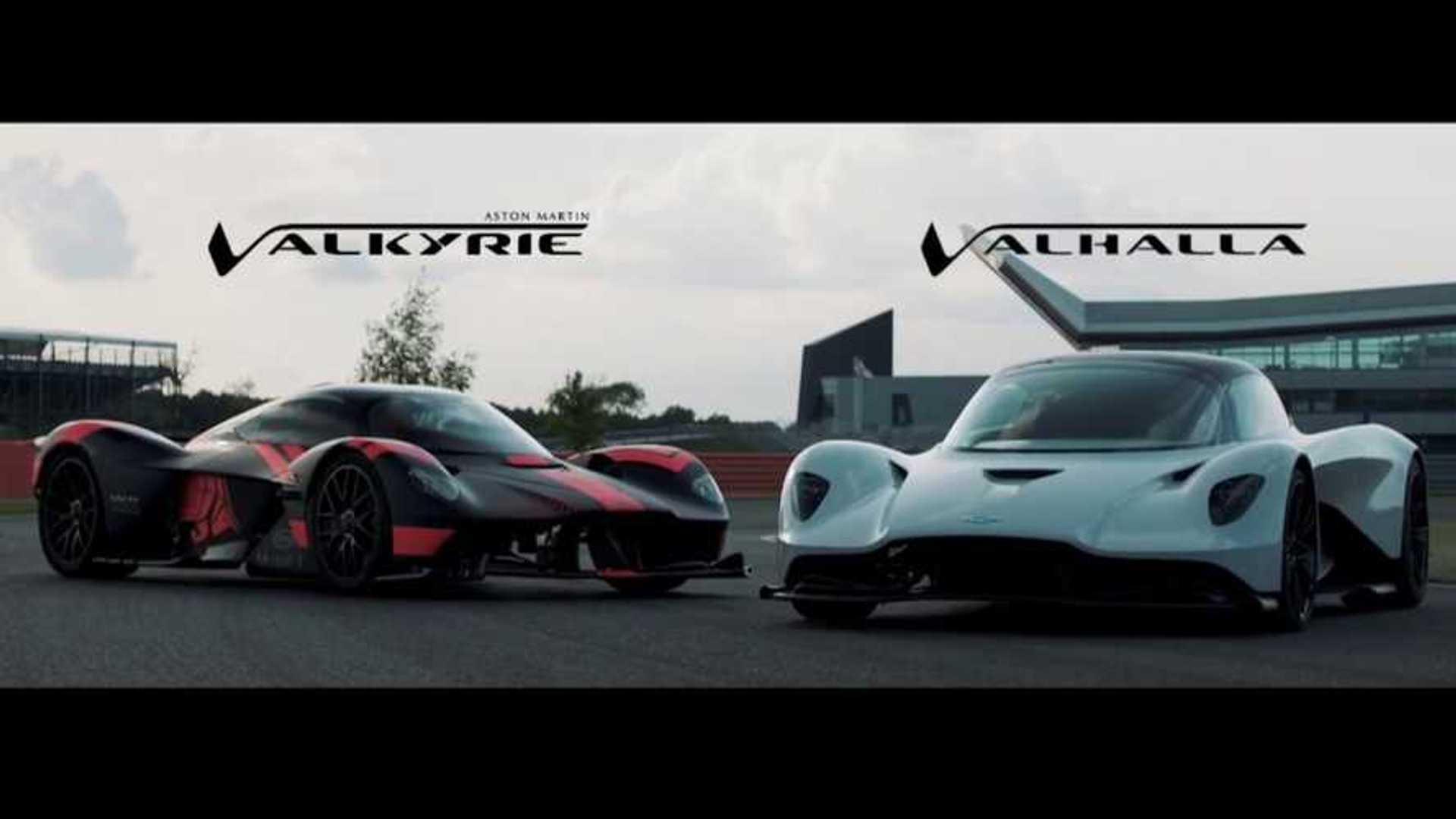 Aston Martin Valkyrie And Valhalla Take A Ride Around Silverstone