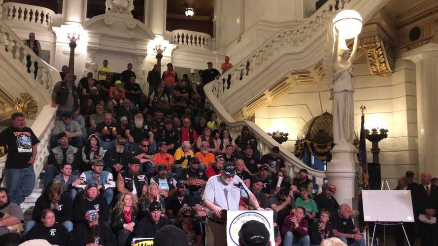 Pennsylvanians Rally For Bikers Rights