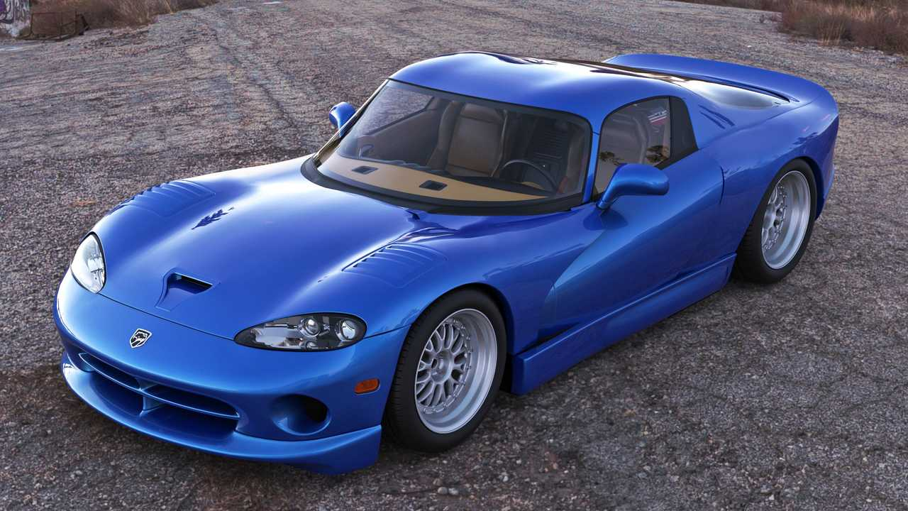 Mid-engine Dodge Viper rendering