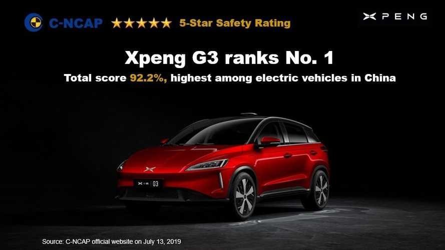 Xpeng G3 China's C-NCAP safety test