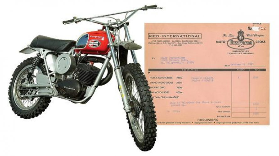 All'Asta una Husqvarna 250 Cross appartenuta a Steve McQueen
