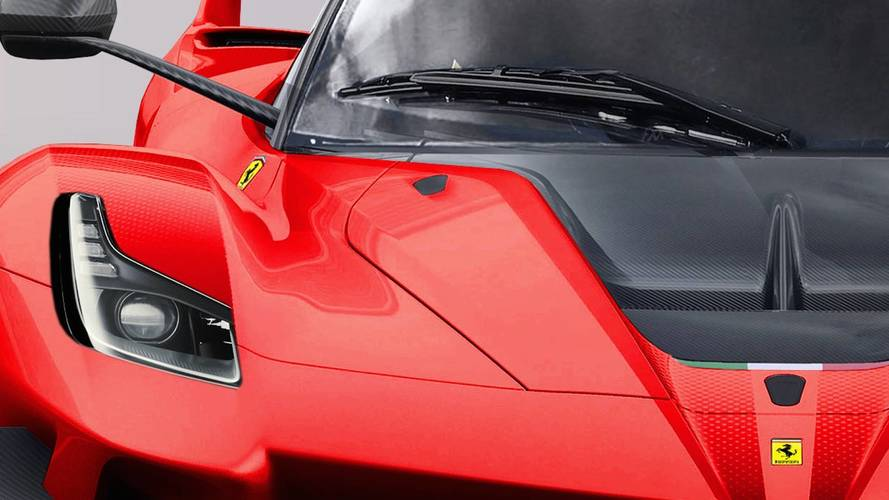 Ferrari FXX K Evo közúti változat renderkép