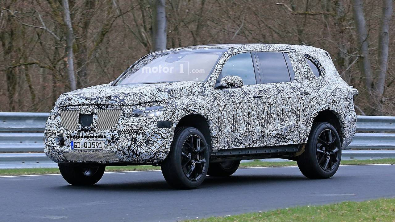 mercedes benz 2019 gls New Mercedes GLS Can't Hide Its Imposing Body Under Camo mercedes benz 2019 gls