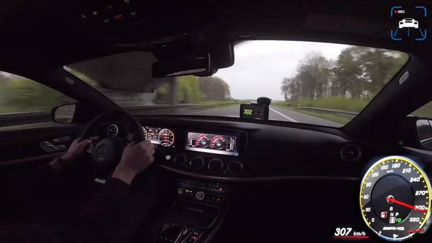 Mercedes-AMG E63 S Goes Flat Out On The Autobahn And Hits 190 MPH