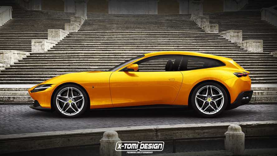 Ferrari Roma shooting brake render