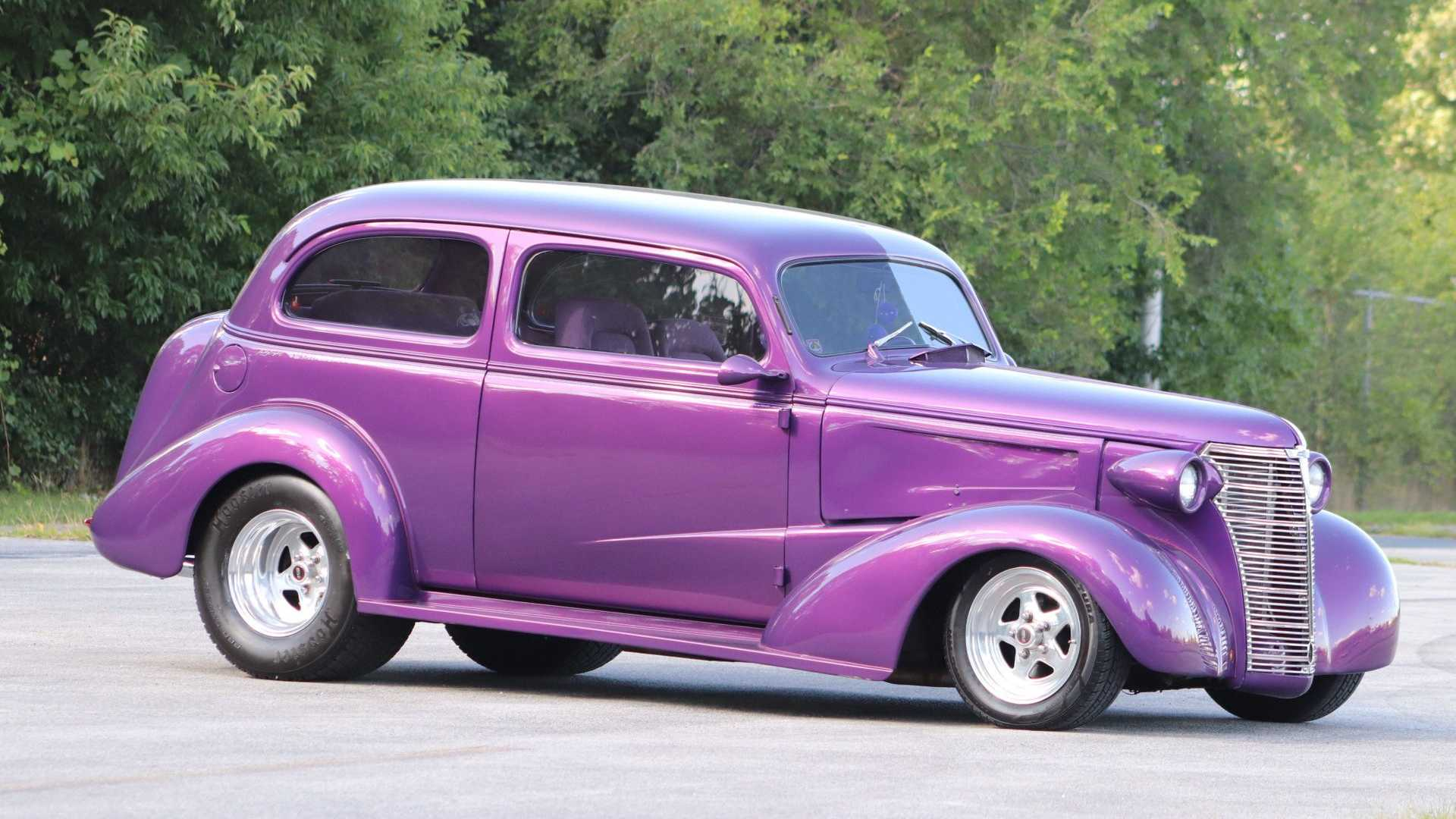 38 Chevy Street Rod Is A Tubbed Purple Three-Seater | Motorious