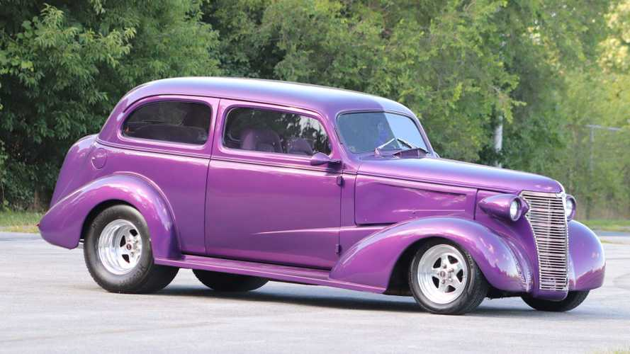 '38 Chevy Street Rod Is A Tubbed Purple Three-Seater