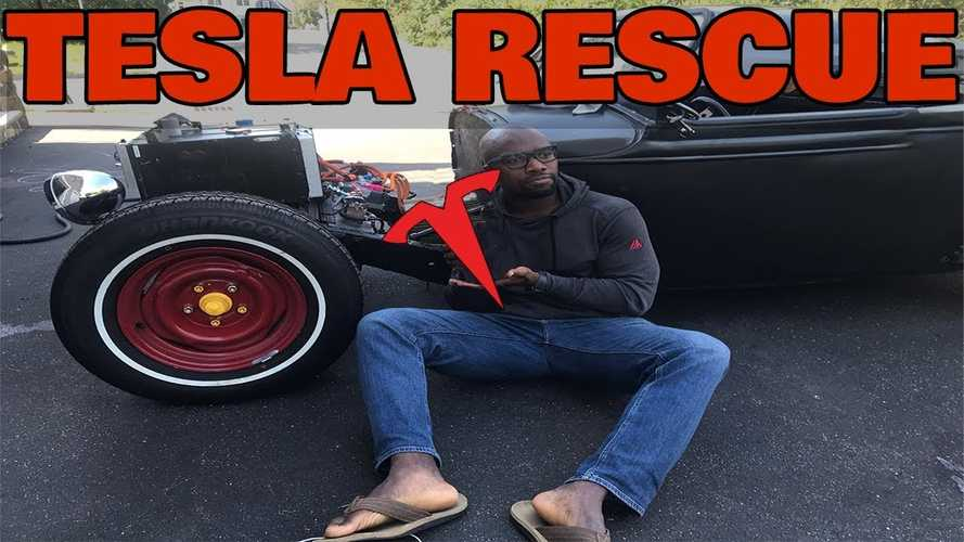 Rich Rebuilds Uses Some Tesla Parts On His Rat Rod