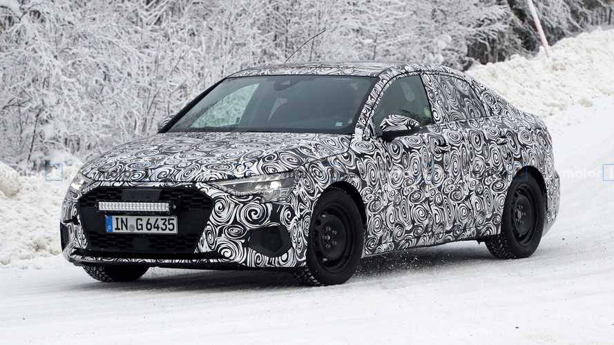 Fotos espía de Audi A3 Sedan 2021