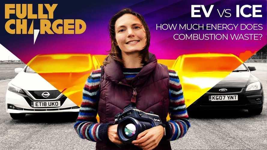 Thermal Camera Reveals Efficiency Gap Between EV And ICE