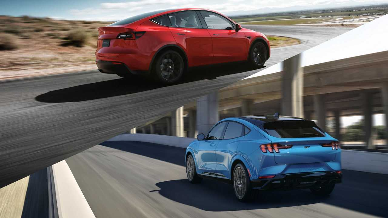 Ford Mustang Mach-E And Tesla Model Y Lead