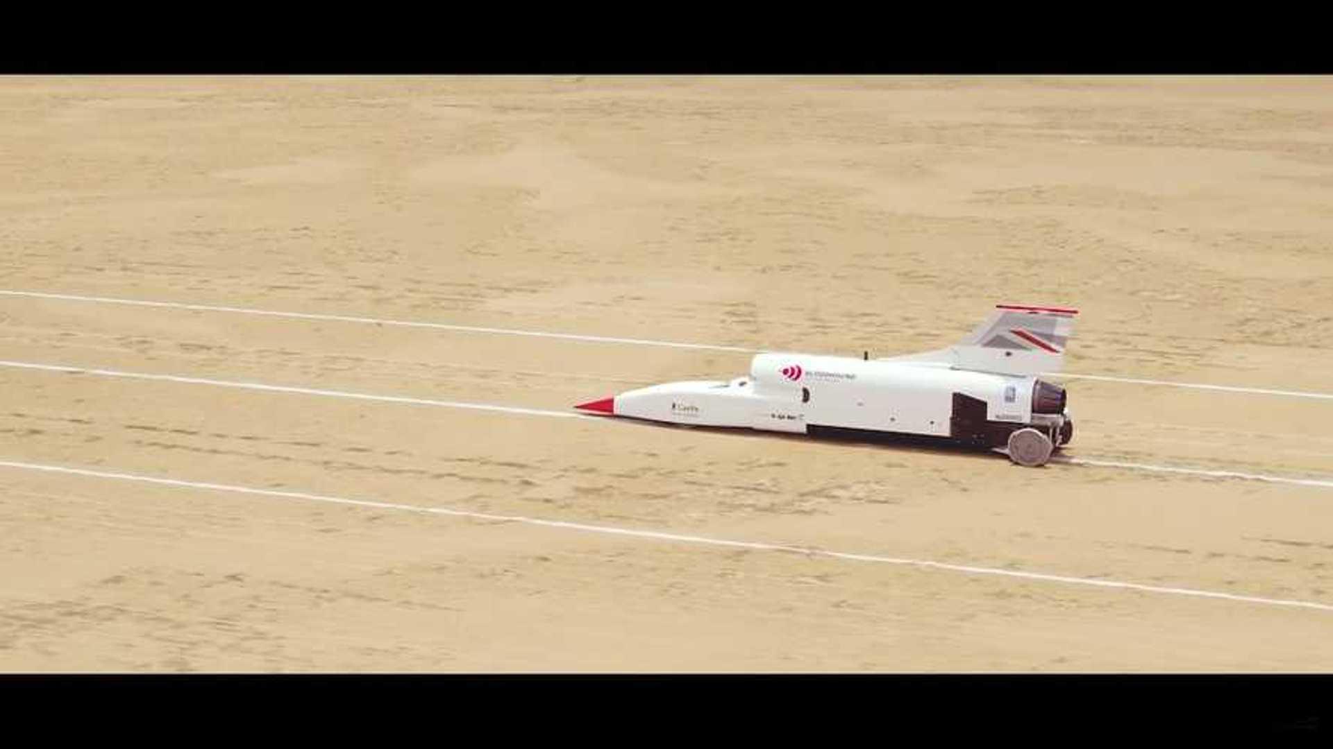 La Bloodhound LSR franchit la barre des 1000 km/h