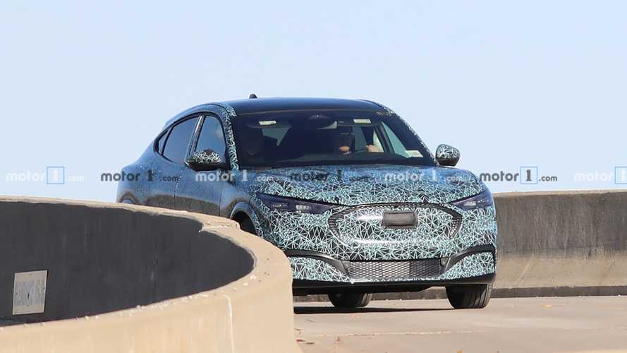 Ford Mustang-Inspired Electric Crossover Spied Virtually Uncovered