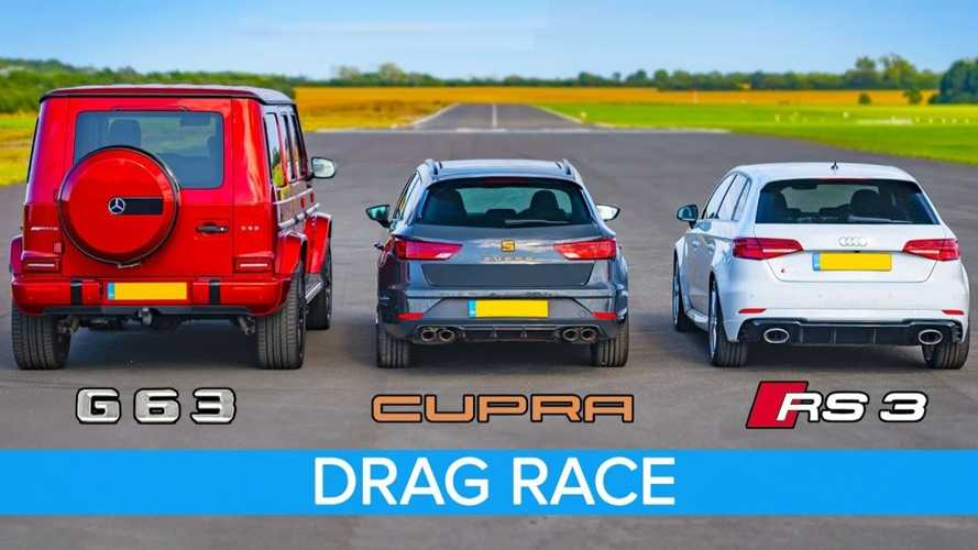 AMG G63 fights RS3 and Leon Cupra R in unexpected drag race