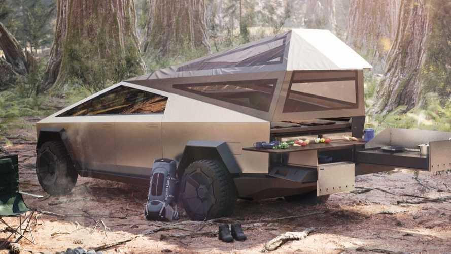 Tesla Cybertruck could offer camping version with bed tent and kitchen