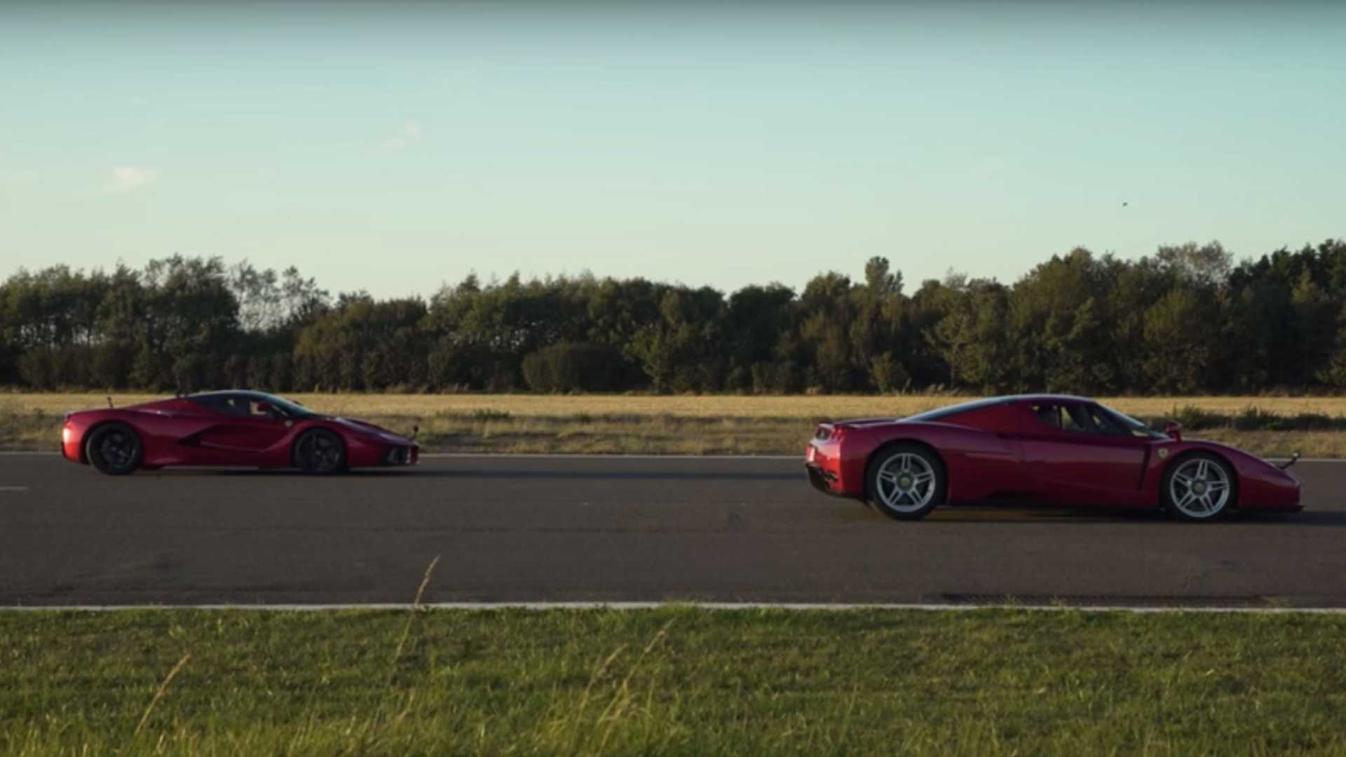 LaFerrari Drag Races The Enzo To Show Hypercar Generation Gap