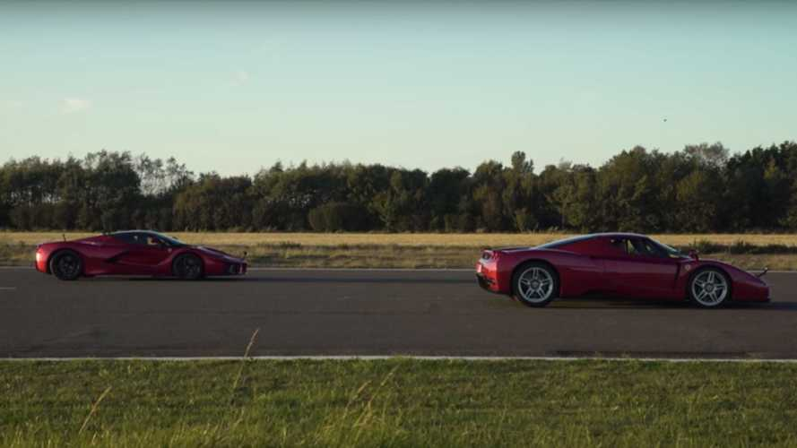 LaFerrari drag races the Enzo to show hypercar generation gap