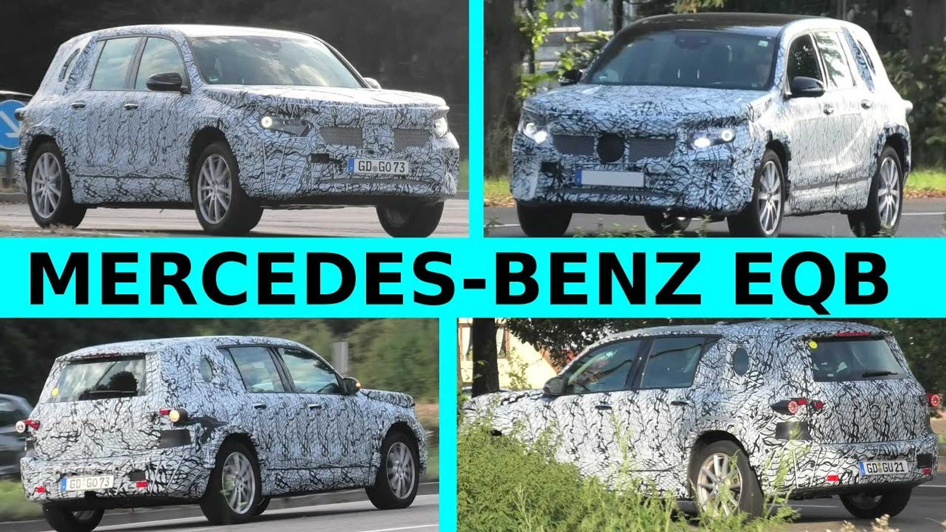 Mercedes-Benz EQB all-electric prototypes spotted in video