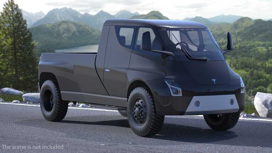 Tesla Pickup Truck Rendered In 3D With Full Interior & Underside Views
