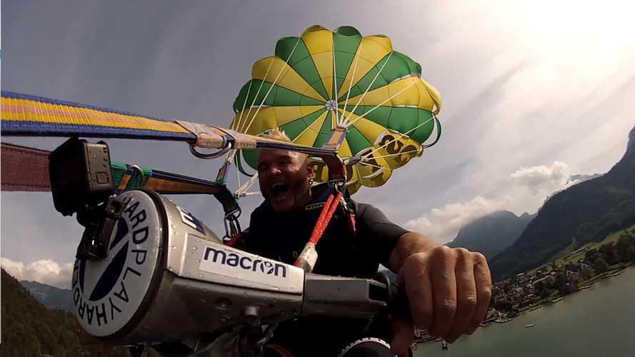 Stuntman Günter Schachermayr And His Vespa Are Back At It
