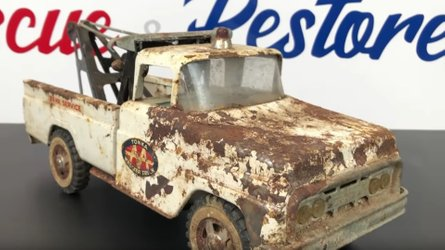 Watch a 1960s tonka truck restoration