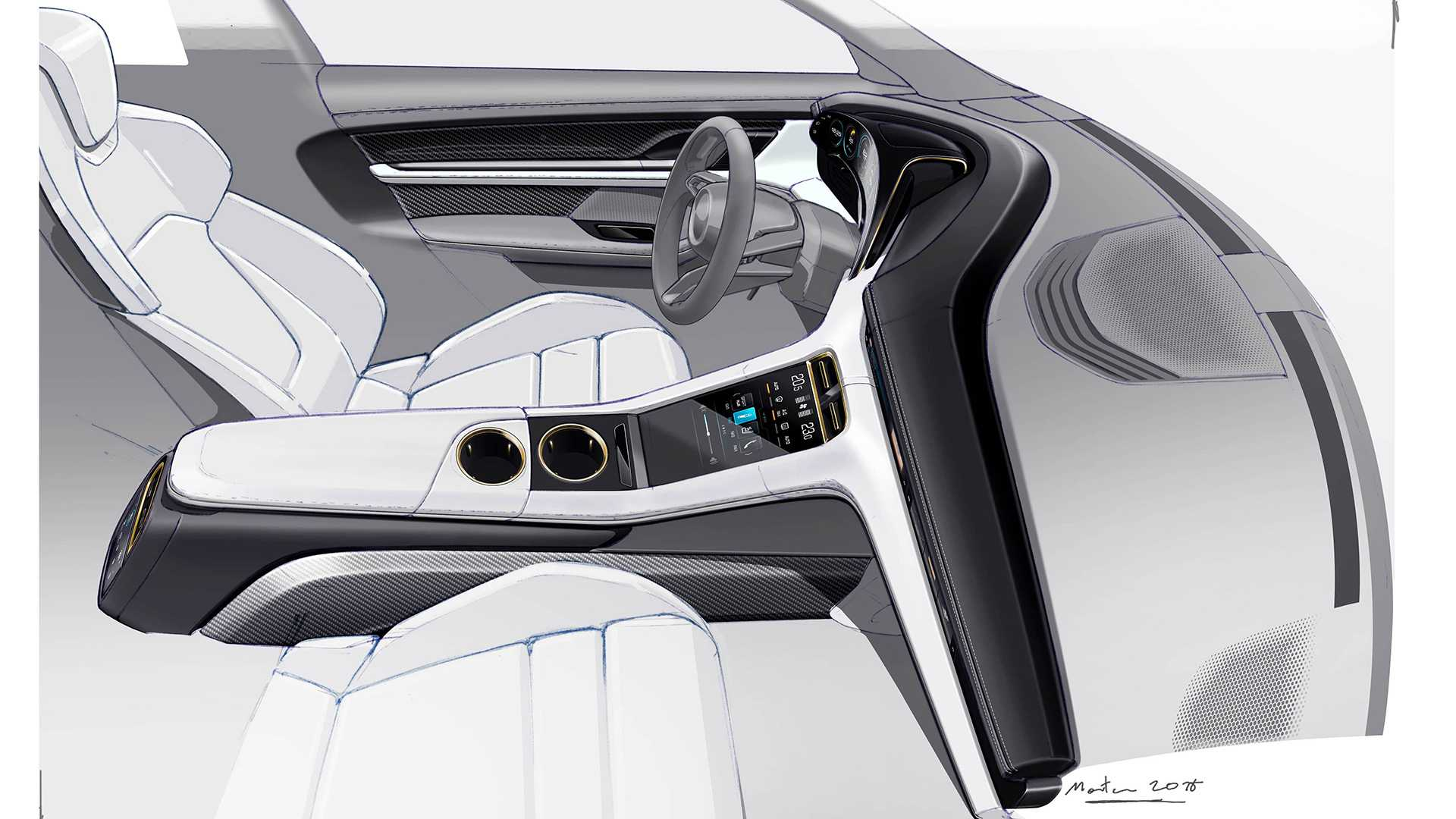 Porsche Taycan Interior Revealed Even Gives Passenger A Screen