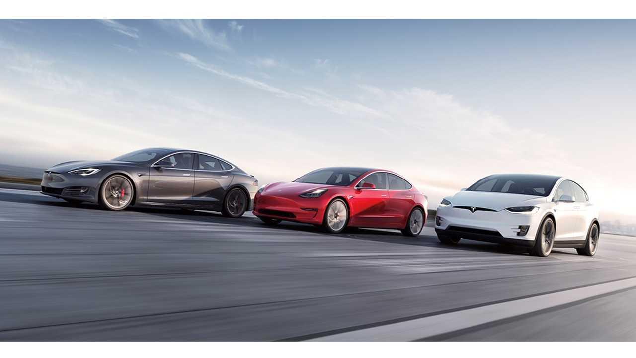 Tesla Model S, Model 3 and Model X