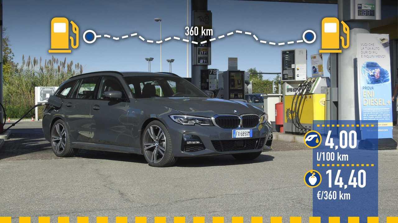 Prueba de consumo real BMW 320d Touring