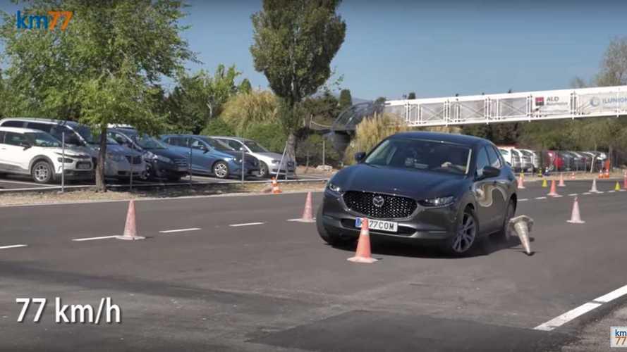 Mazda CX-30 ve Tesla Model 3 geyik testinde ne yaptı?