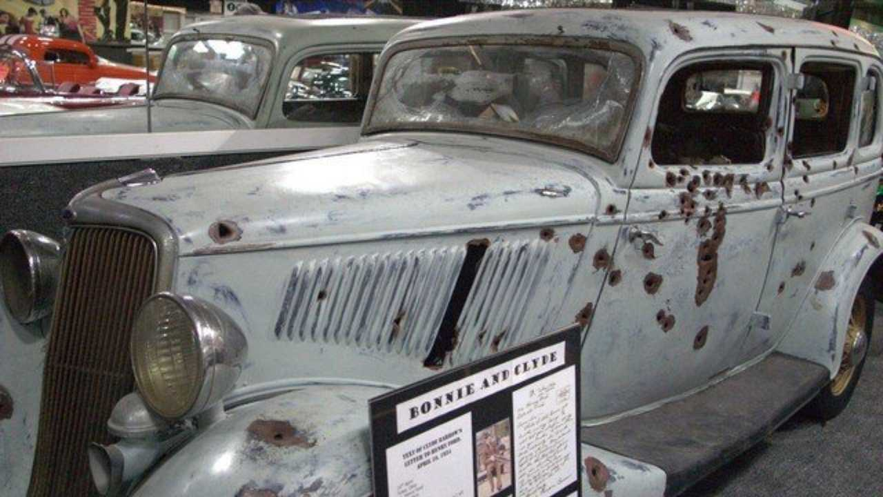 Look In Horror At The Bonnie And Clyde Death Car