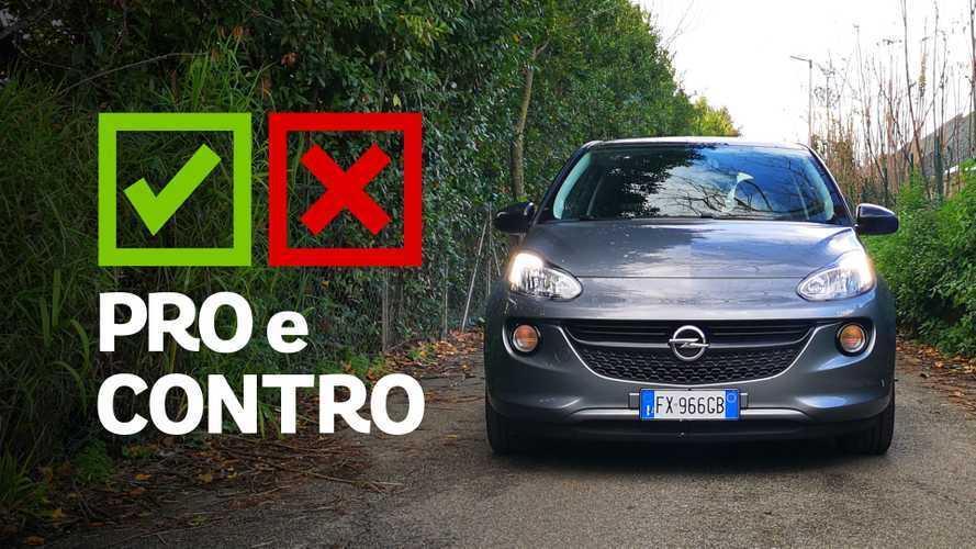 Opel Adam 1.2 70 CV Glam, pro e contro