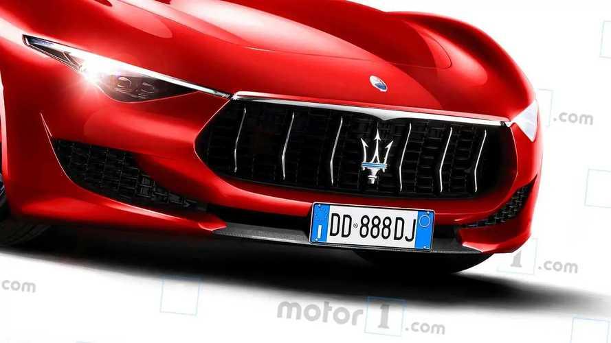 Maserati Alfieri, render de Motor1.com