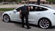 Tesla Model 3 Smart Summon Pulled Over By Police
