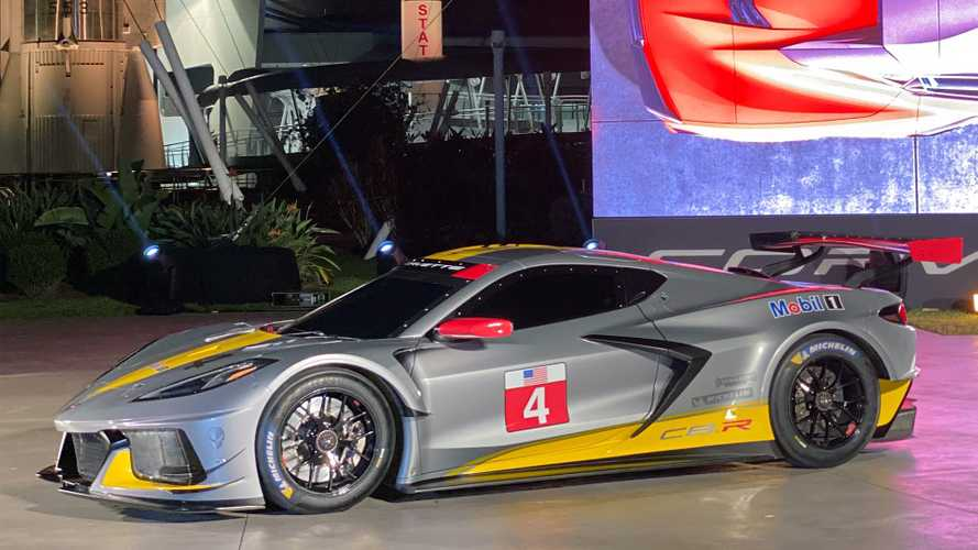 Chevy Corvette C8.R race car makes surprise debut