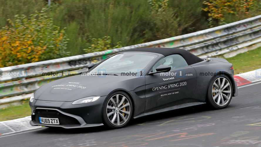 Aston Martin Vantage Roadster spied cruising the Nürburgring