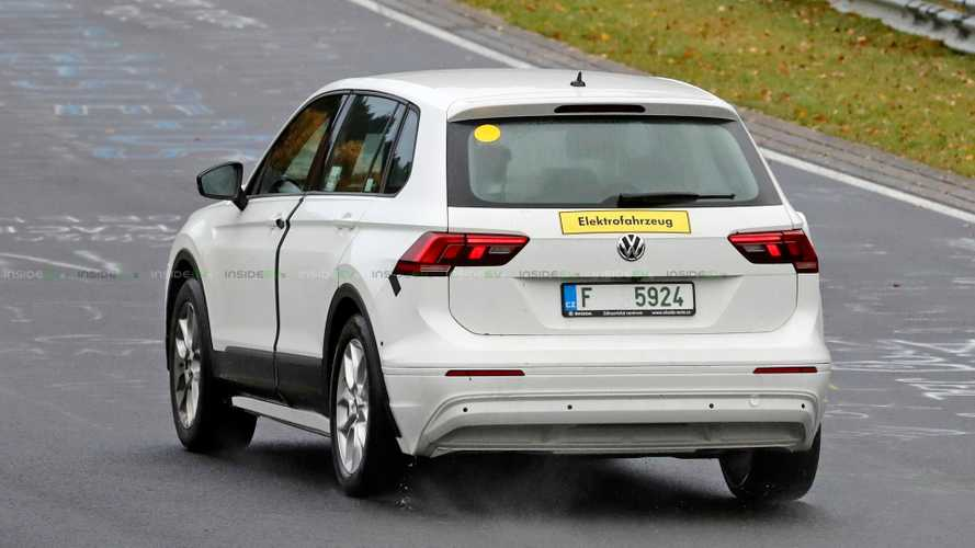 Škoda's First MEB-Based Test Mule Spotted In VW Tiguan Skin