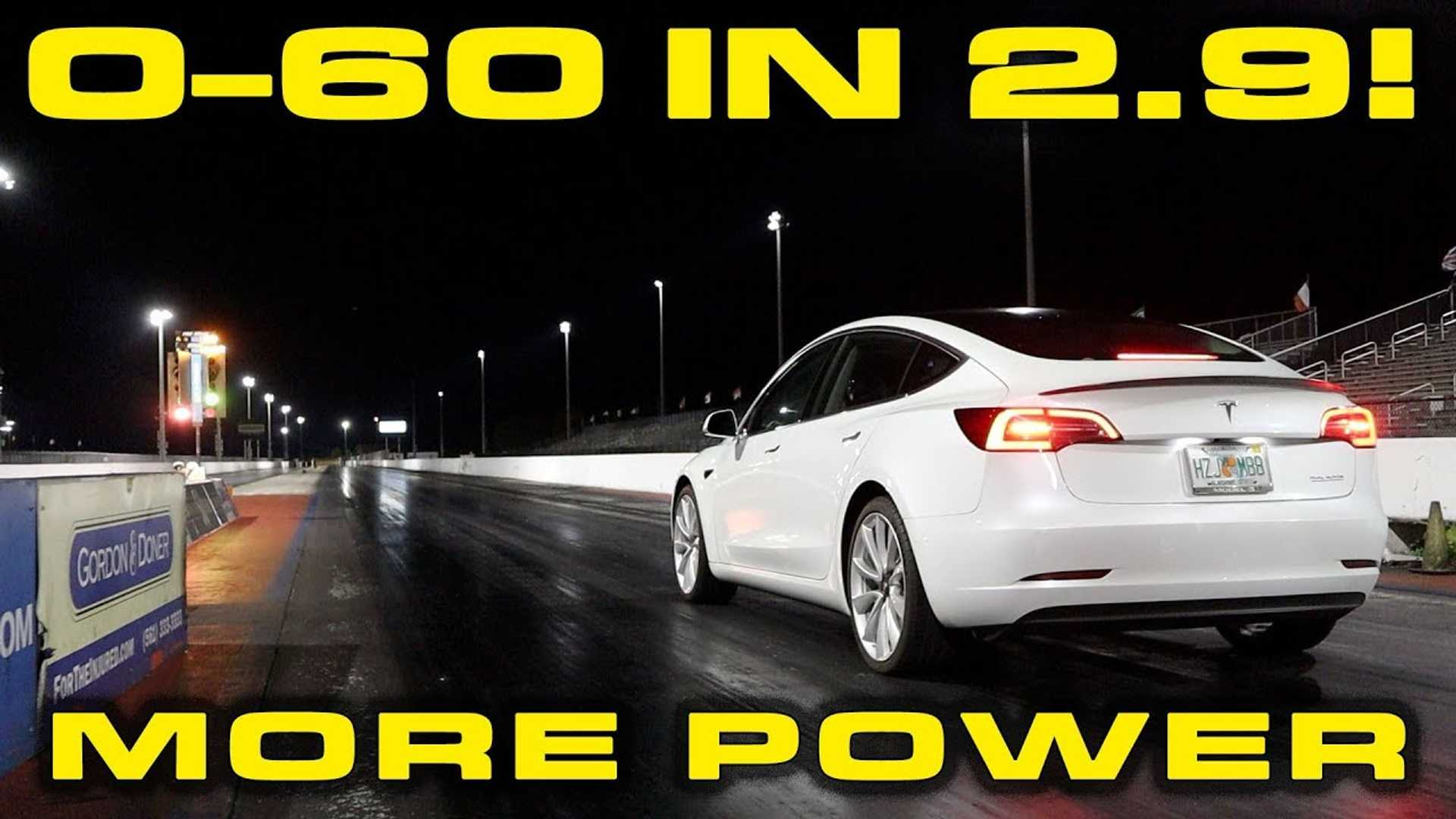 Tesla Model 3 and Model S power increase tests: Model 3 0-60 in 2.9s
