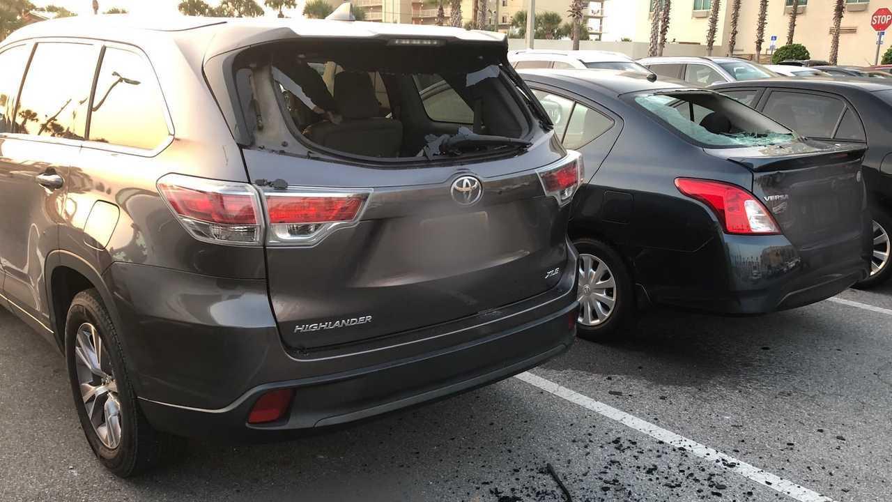 Cars Smashed By Florida Man