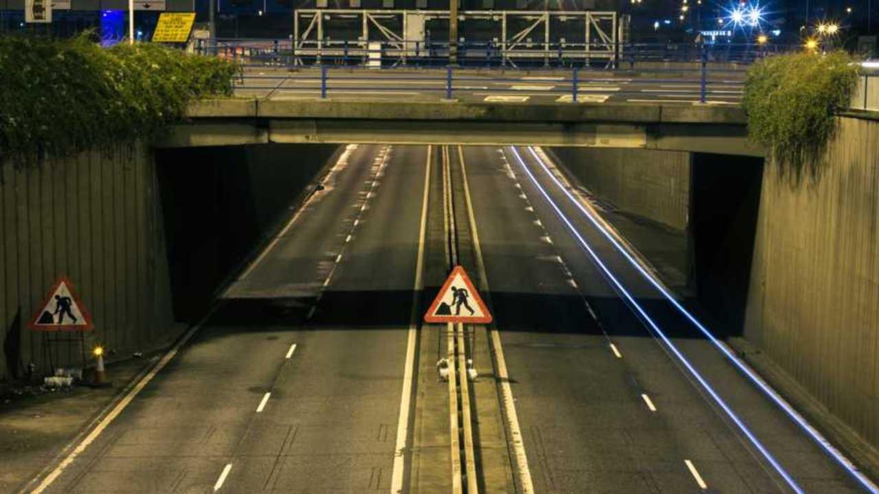 Motorway in Birmingham England
