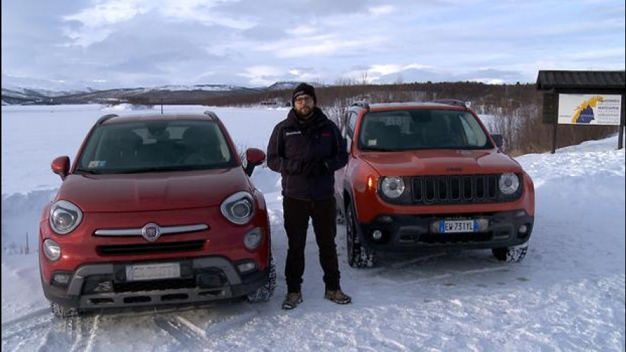 Fiat 500X e Jeep Renegade: 4x4 VS Svezia [VIDEO]