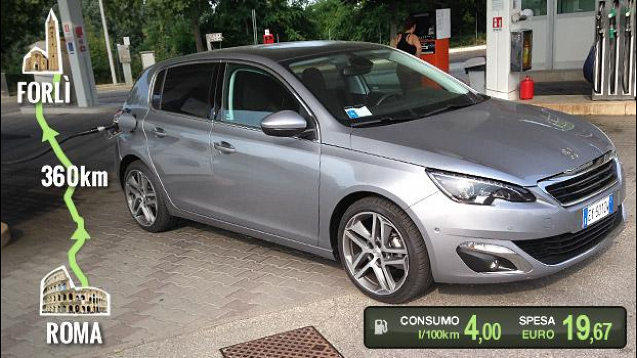 [Copertina] - Peugeot 308 BlueHDi, la prova dei consumi reali