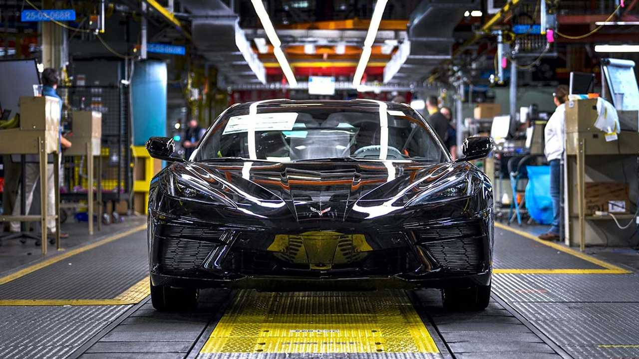 First Of The C8 Corvettes Roll Off Production Line