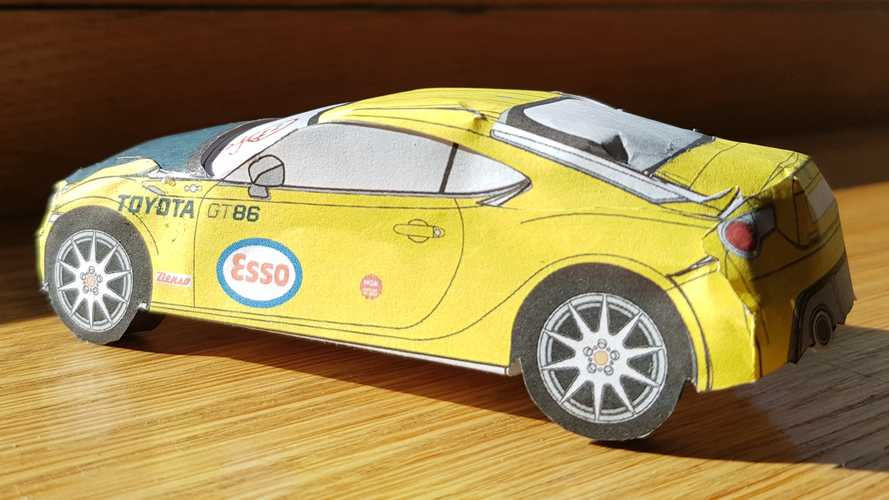 Build these six, retro-flavoured Toyota GT86 paper models