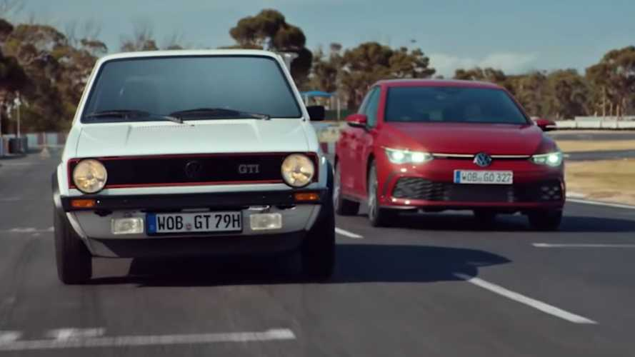 Original VW Golf GTI Meets The Mk8 In New Ad