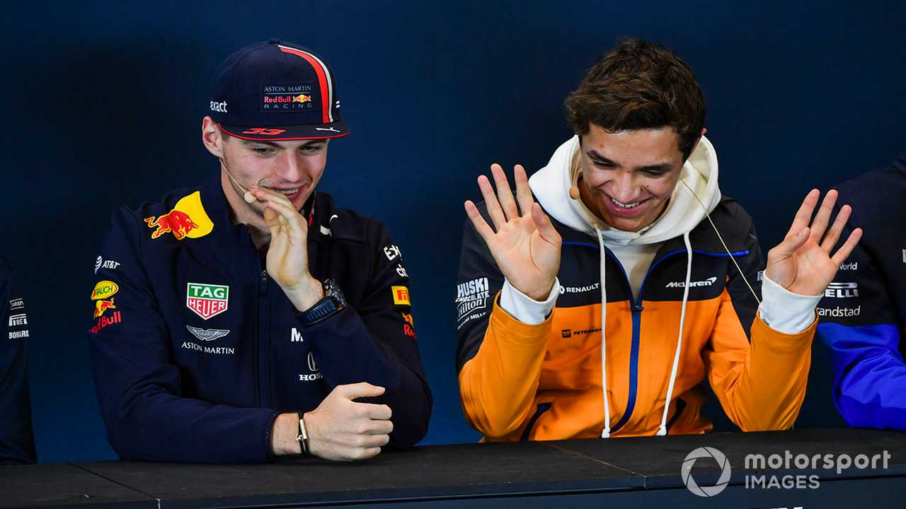 Max Verstappen and Lando Norris at US GP 2019 press conference