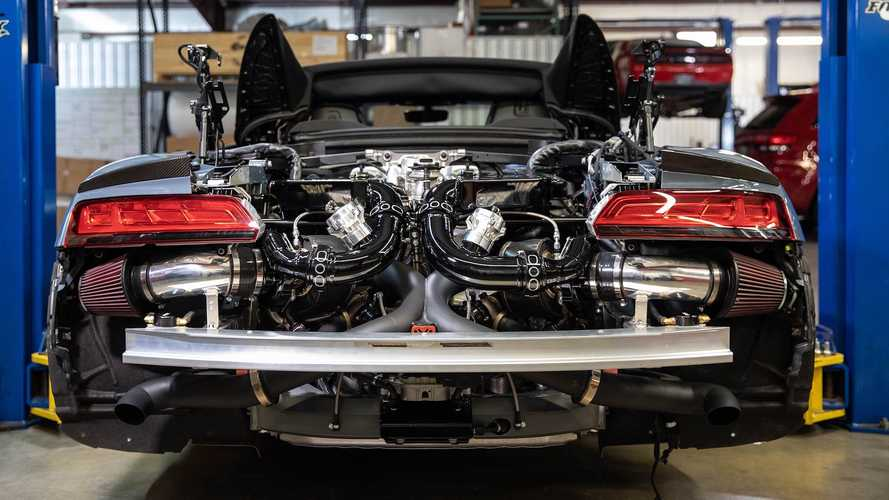 Audi R8 Twin Turbo By Hennessey Makes 752 HP At The Wheels